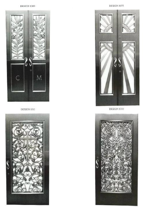 BRONZE DOORS FOR GRANITE MAUSOLEUMS
